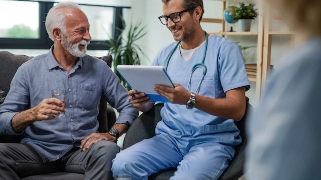 Your parents' doctor can help with senior care services.